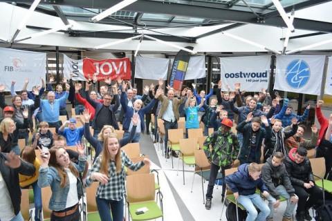 Aftrap Skelterrace Friesland 2015 voor vmbo leerlingen