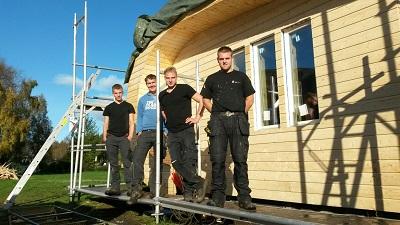 Studenten ROC Friese Poort Sneek bouwen mee aan ECOkubus in Noorwegen