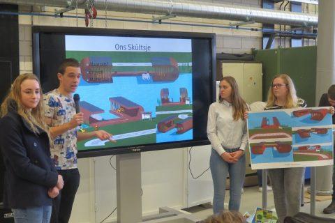 Bouwstudenten ROC Friese Poort pitchen definitief ontwerp Skultsje