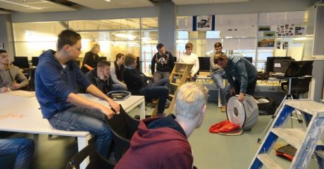 Praktijkdag luchtdicht bouwen bouwstudenten ROC Friese Poort Sneek