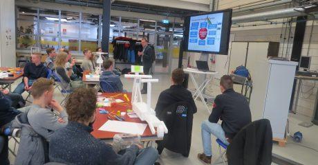 Studenten ROC Friese Poort Drachten maken CityStep voor Elfwegentocht CH2018