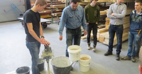 Demonstratie Xiriton voor bouwstudenten ROC Friese Poort Leeuwarden