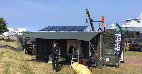Duurzame commandopost op Marinedagen en Sail Den Helder