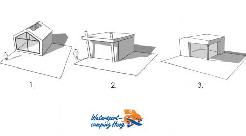Bouwstudenten ontwerpen autarkische cocon voor Watersportcamping Heeg