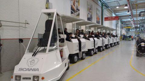 Techniek studenten ROC Friese Poort op excursie naar Scania Production Zwolle