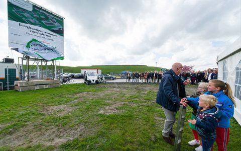 Frisian Eco Car bij startfeest bouw Energiecampus Leeuwarden