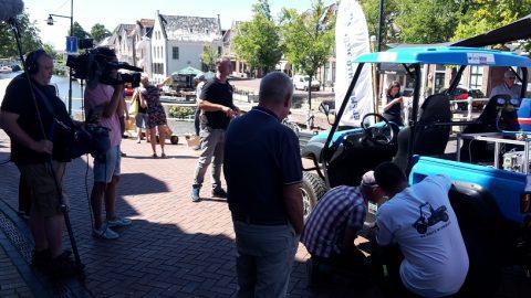 Waterstof auto in Dokkum op tweede dag Elfwegentocht