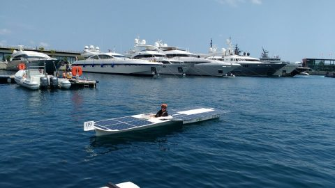 Solarboot Skipper van start in Monaco Solar & Energy Boat Challenge