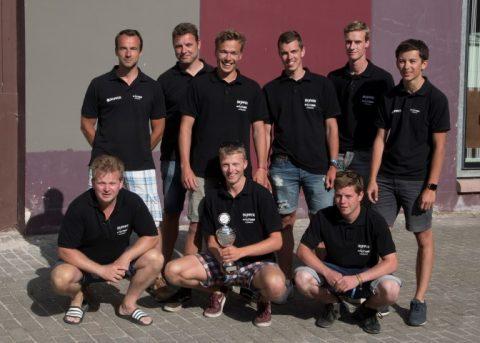Nieuwe solarboot solarteam Skipper tweede in Leeuwarden