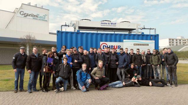 Duurzame excursie naar eiland Borkum voor studenten Middenkader engineering voor NETfficient Project