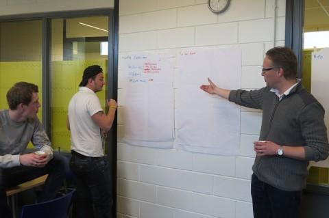 Studenten ECO kubus starten met scrum methode