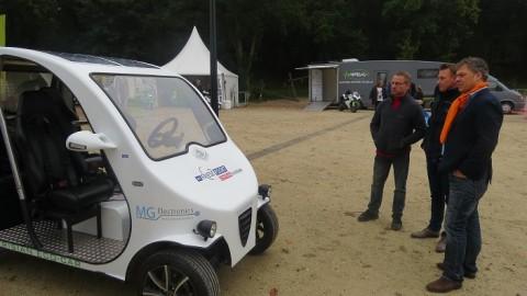 Door MBO studenten gebouwde Frisian Eco Car op E-motiondag Appelscha