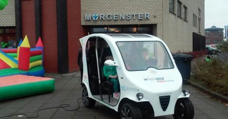 Frisian Eco Car publiekstrekker op duurzaamheidsmarkt De Morgenster Leeuwarden