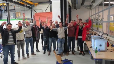 Bouwstudenten ROC Friese Poort Leeuwarden leren 3D printen door te doen