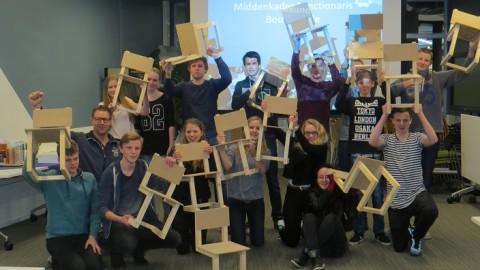 Leerlingen Ulbe van Houten 'bouwen' bij Centrum Duurzaam