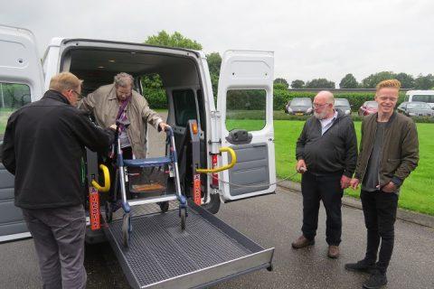 De eerste meters voor ECObus Het Bildt