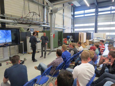 Gastles windenergie helpt windmolen project studenten ROC Friese Poort verder