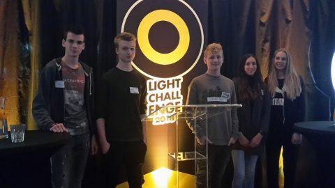 Studenten mediavormgeving ROC Friese Poort doen mee aan Light Challenge 2018