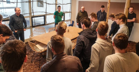 Studenten Bouw/Infra presenteren plannen bij start-upcentrum There