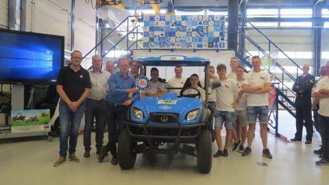 Waterstofauto ROC Friese Poort rijdt eerste fossielvrije meters