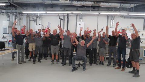 Toolbox meeting Strukton Worksphere in Duurzaam Doen Huis