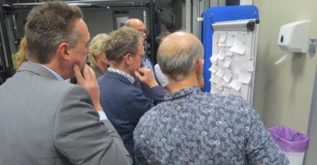 Deelnemers tijdens de netwerkbijeenkomst CO2-neutraalonderwijs ROC Friese Poort