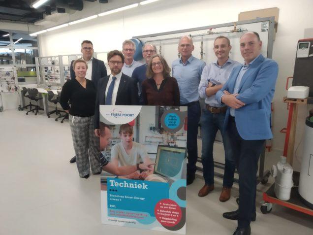 Stuurgroepleden Green Deal ervaren verduurzamingsworkshop ROC Friese Poort