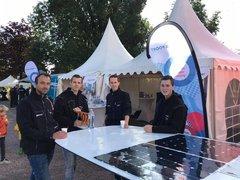 Leeuwarder solarboat ROC Friese Poort aanwezig op Admiraliteitsdagen Dokkum
