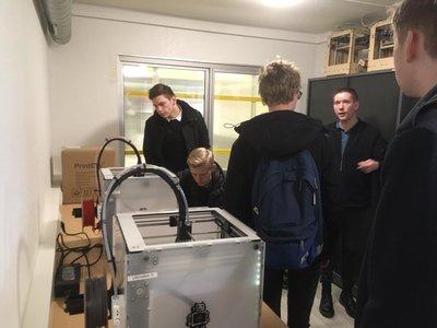Studenten Mechatronica volgen workshop 3D-printing