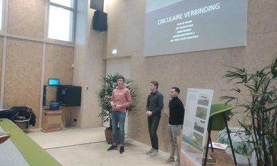 Studenten Bouwkunde presenteren ontwerp biobased verbinding Ecomunitypark