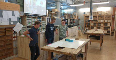 Studenten Bouw ontwerpen ontmoetingsplek rondom thema duurzame inzetbaarheid