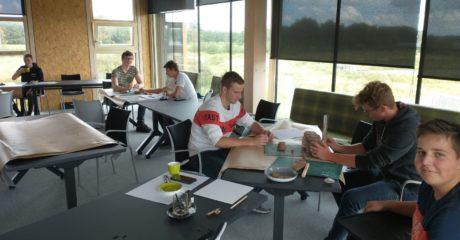 ROC Friese Poort-studenten Bouw ontwerpen duurzame Biowente